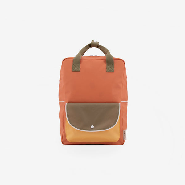 Backpack/Diaper Bag - Faded Orange Wanderer