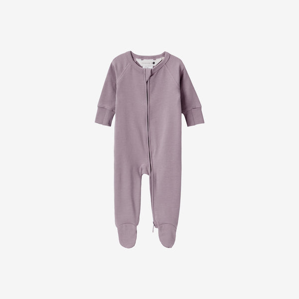 Organic Cotton Footed Zip Growsuit - Periwinkle