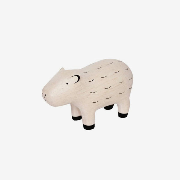 Polepole Miniature Wooden Animals - Capybara