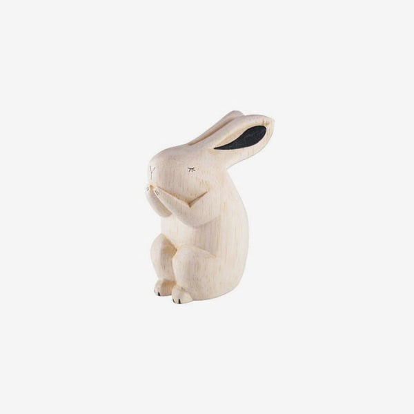 Polepole Miniature Wooden Animals - Rabbit