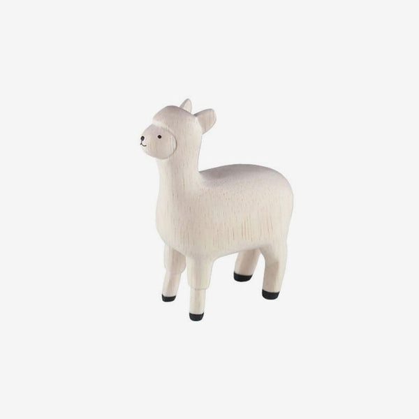 Polepole Miniature Wooden Animals - Alpaca