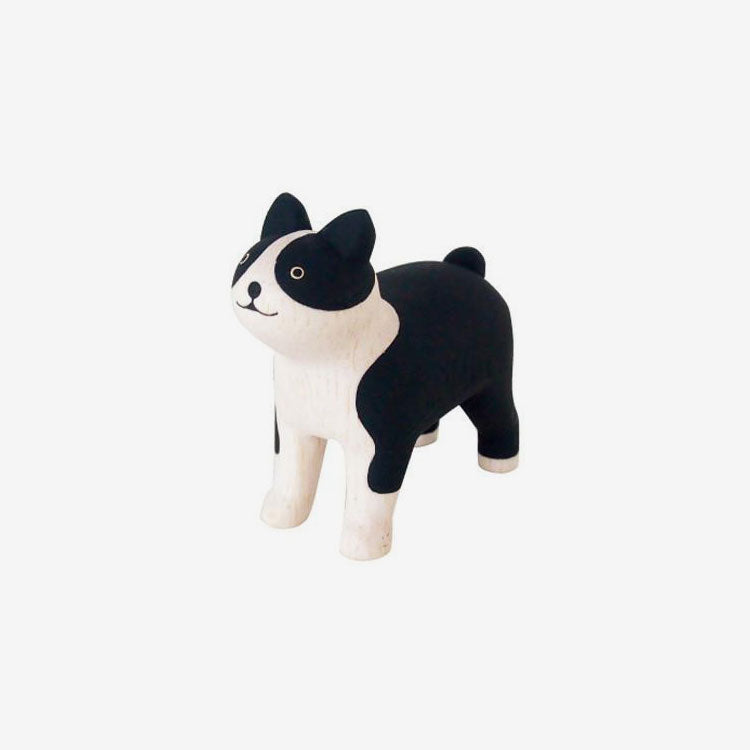 Polepole Miniature Wooden Animals - Boston Terrier