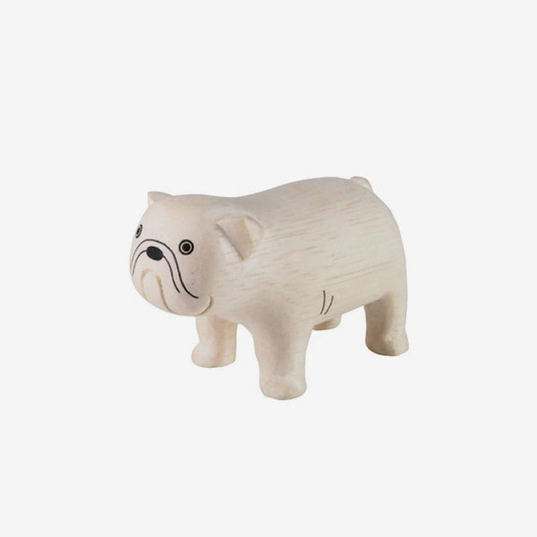 Polepole Miniature Wooden Animals - Bulldog