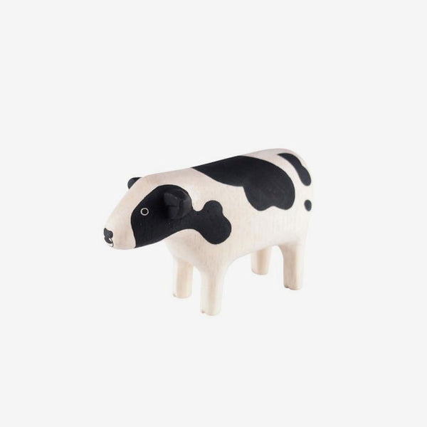 Polepole Miniature Wooden Animals - Cow