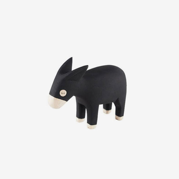 Polepole Miniature Wooden Animals - Donkey