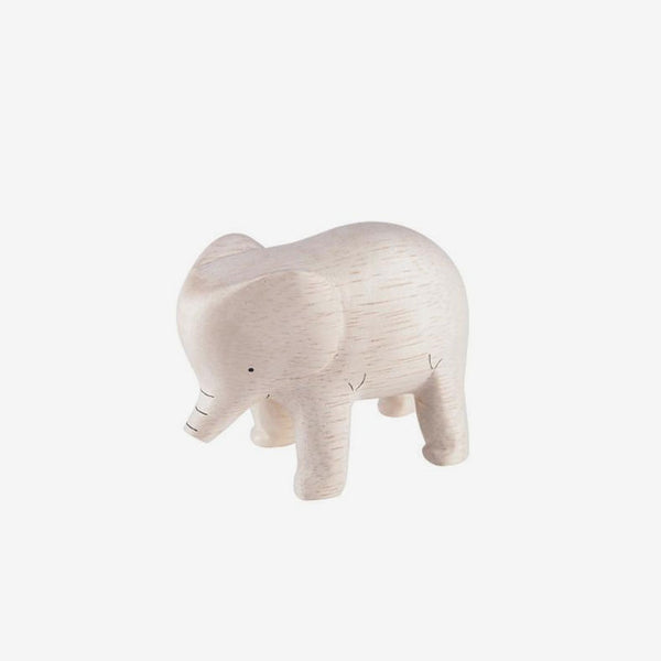 Polepole Miniature Wooden Animals - Elephant