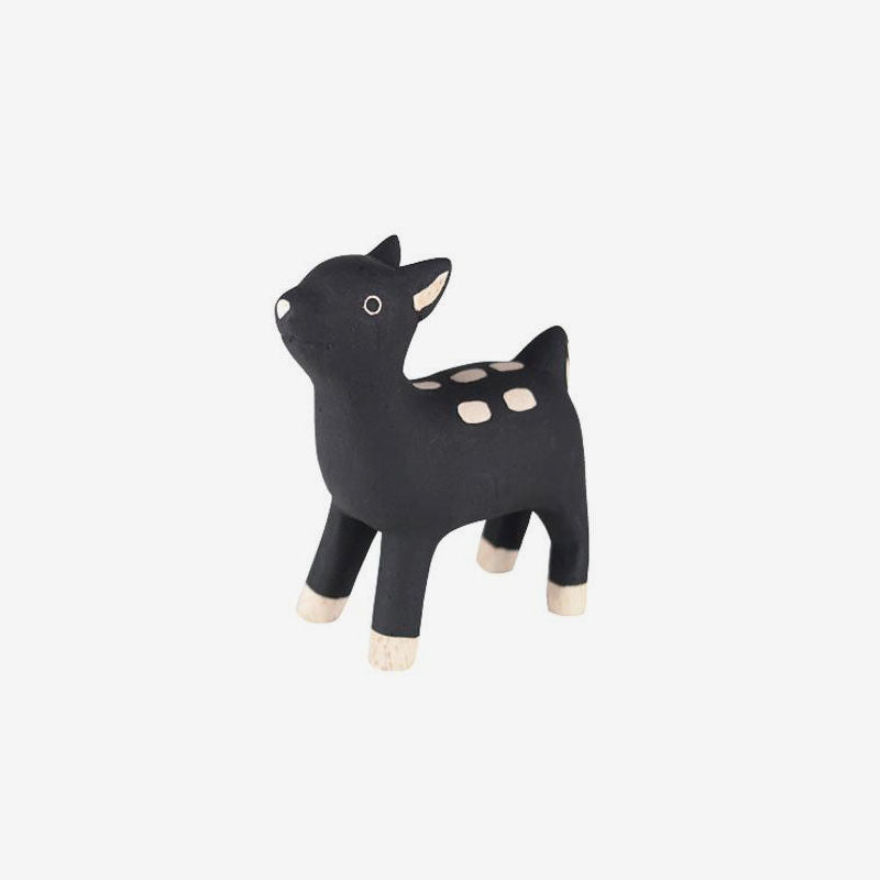 Polepole Miniature Wooden Animals - Fawn