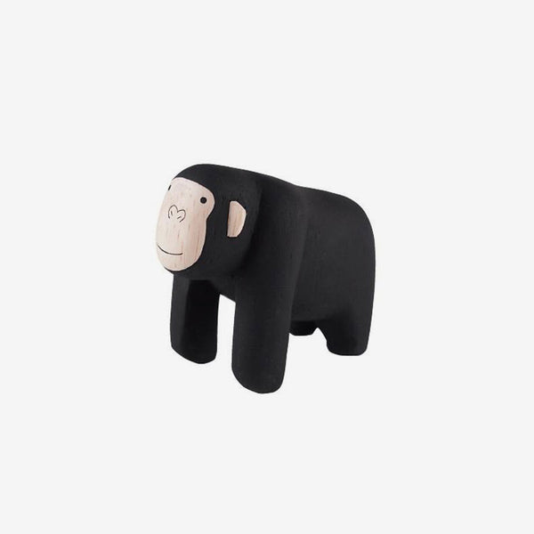 Polepole Miniature Wooden Animals - Gorilla