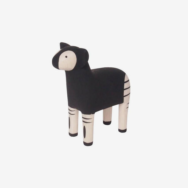 Polepole Miniature Wooden Animals - Okapi