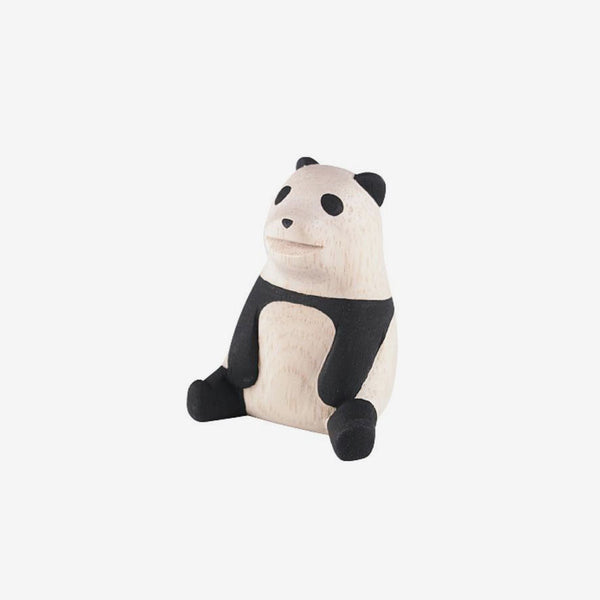 Polepole Miniature Wooden Animals - Panda