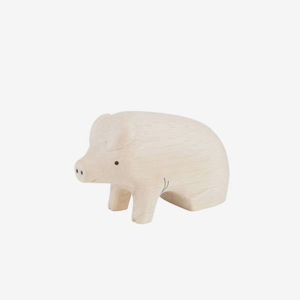 Polepole Miniature Wooden Animals - Pig