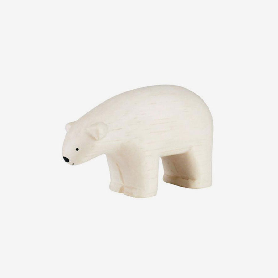 Polepole Miniature Wooden Animals - Polar Bear