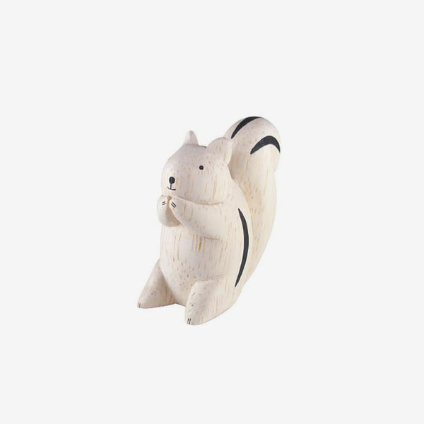 Polepole Miniature Wooden Animals - Squirrel