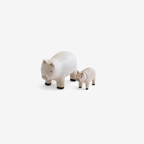 Polepole Wooden Animal Families - Pigs