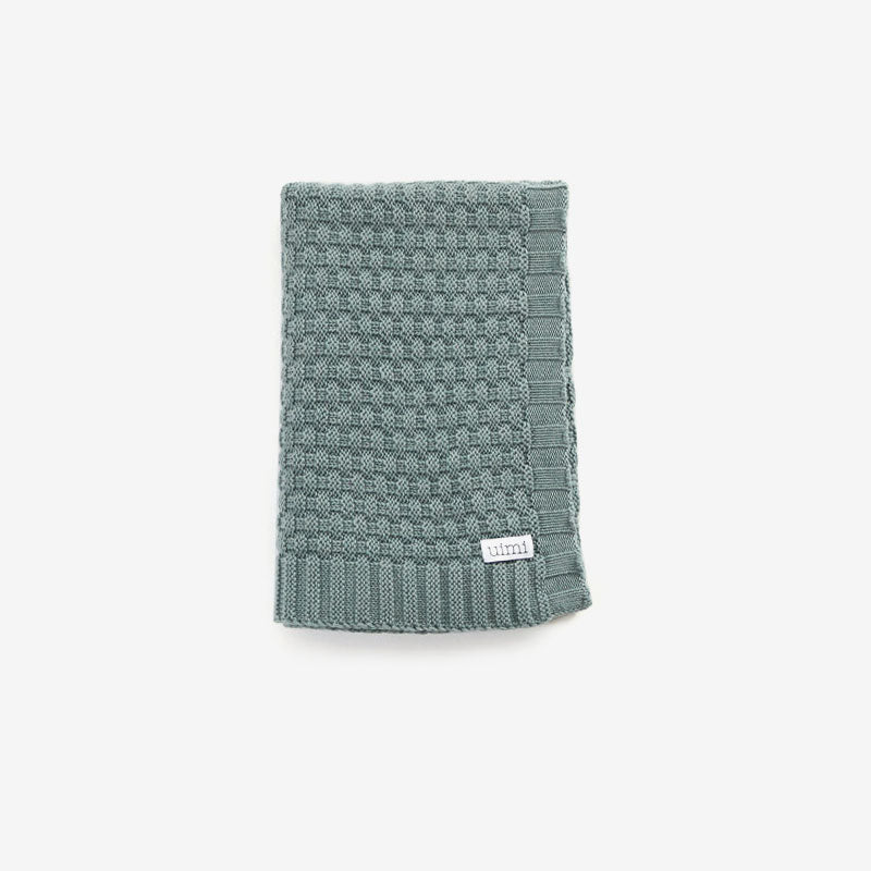 Bellamy Merino Baby Blanket - Sea