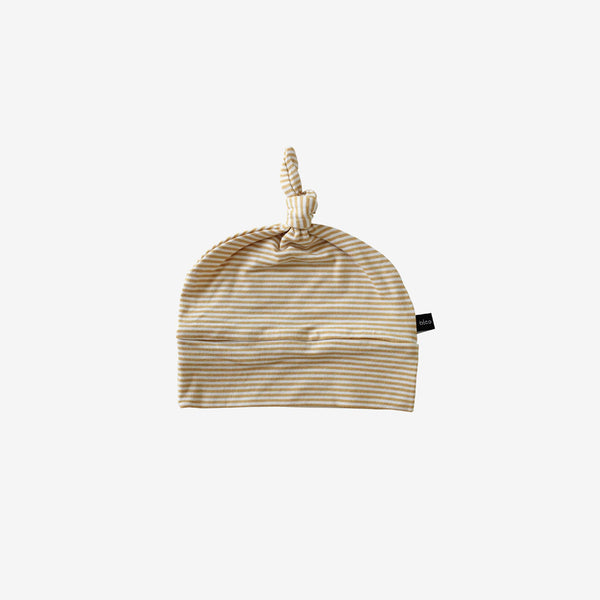 Bamboo Baby Beanie - Honey Stripe