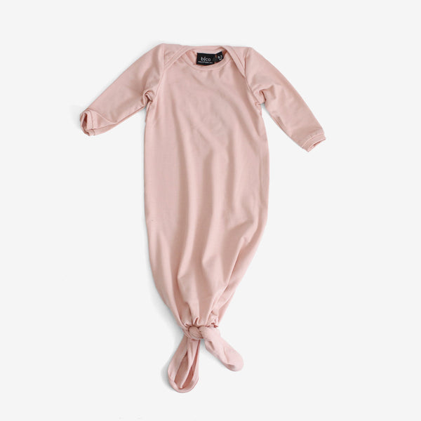 Bamboo Baby Sleeper Gown - Blush