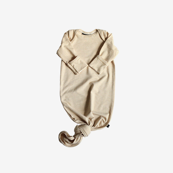 Bamboo Baby Sleeper Gown - Honey Stripe