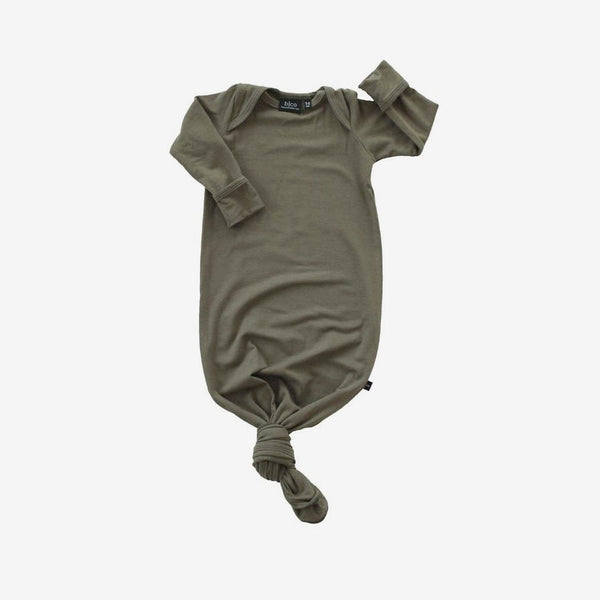 Bamboo Baby Sleeper Gown - Olive