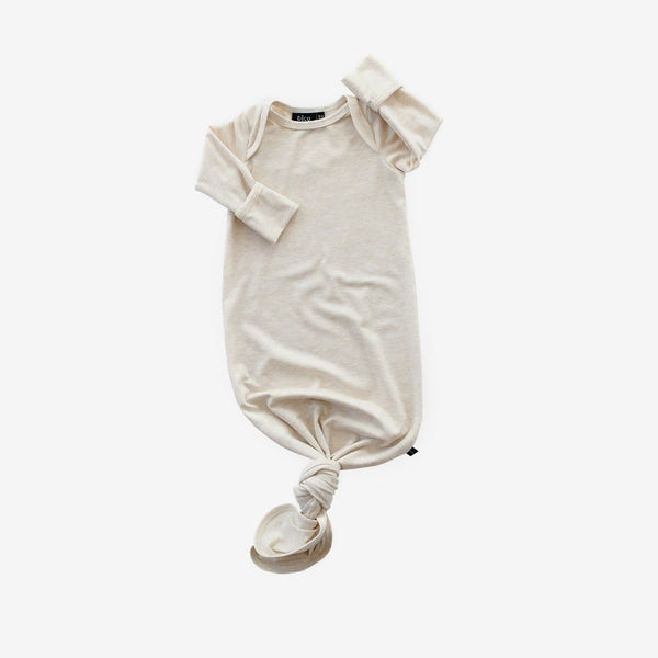 Bamboo Baby Sleeper Gown - Almond Heather