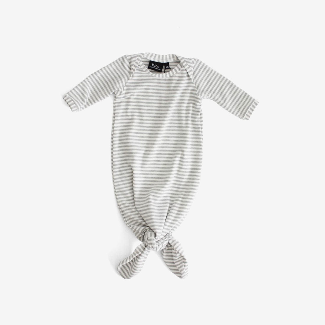 Bamboo Baby Sleeper Gown - Grey Stripe