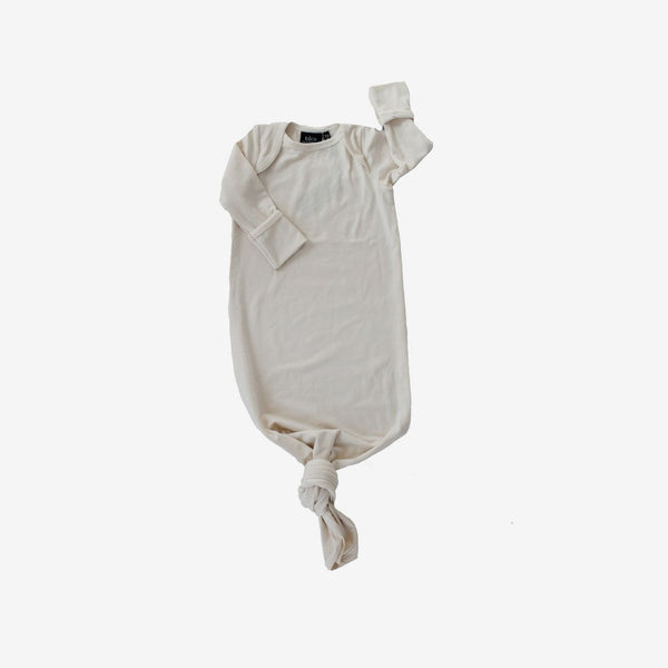 Bamboo Baby Sleeper Gown - Natural
