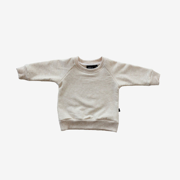 Bamboo Fleece Sweatshirt - Almond Heather