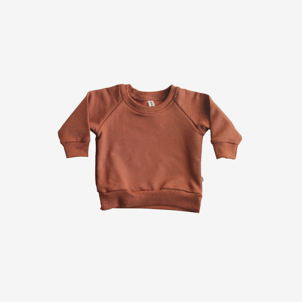 Bamboo Fleece Sweatshirt - Rust