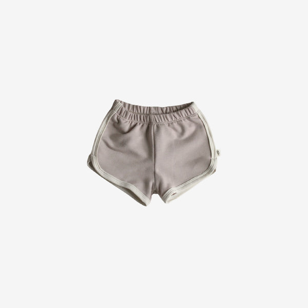 Bamboo French Terry Track Shorts - Fawn