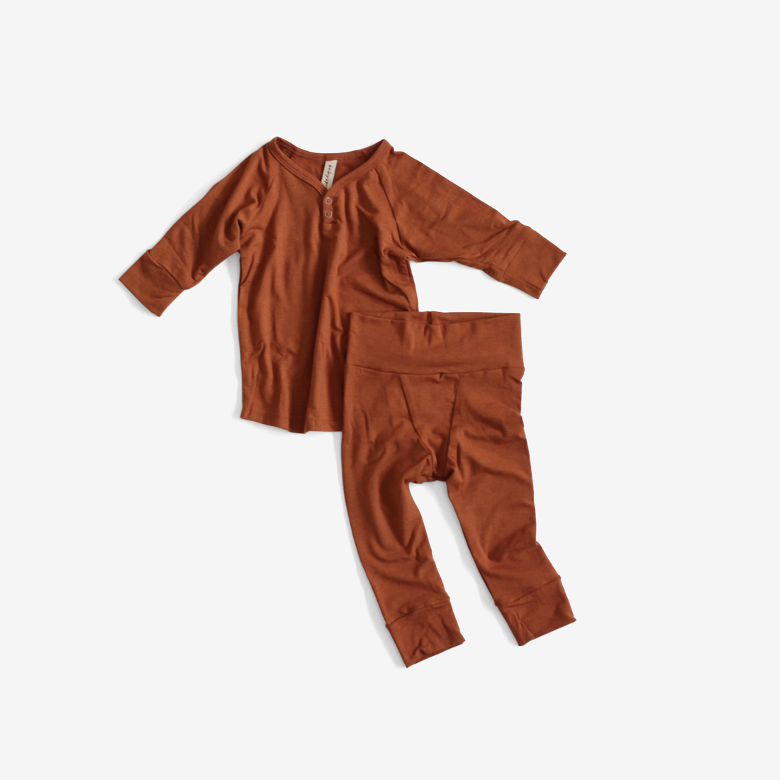Bamboo Jersey PJs Lounge Set - Rust