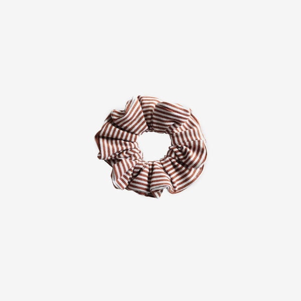 Bamboo Jersey Scrunchie - Rust Stripe