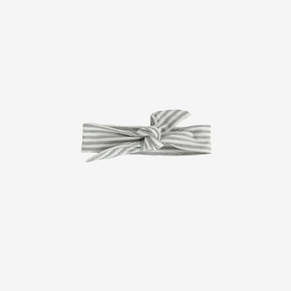 Bamboo Knotted Headband - Grey Stripe