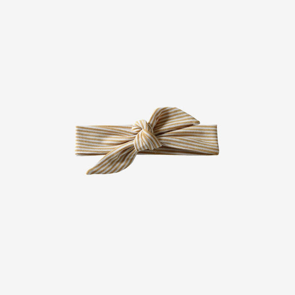 Bamboo Knotted Headband - Honey Stripe