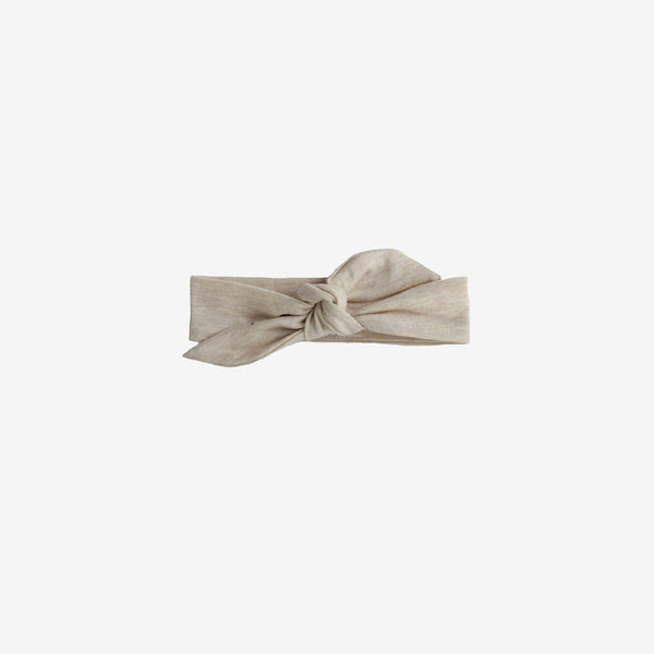 Bamboo Knotted Headband - Almond Heather