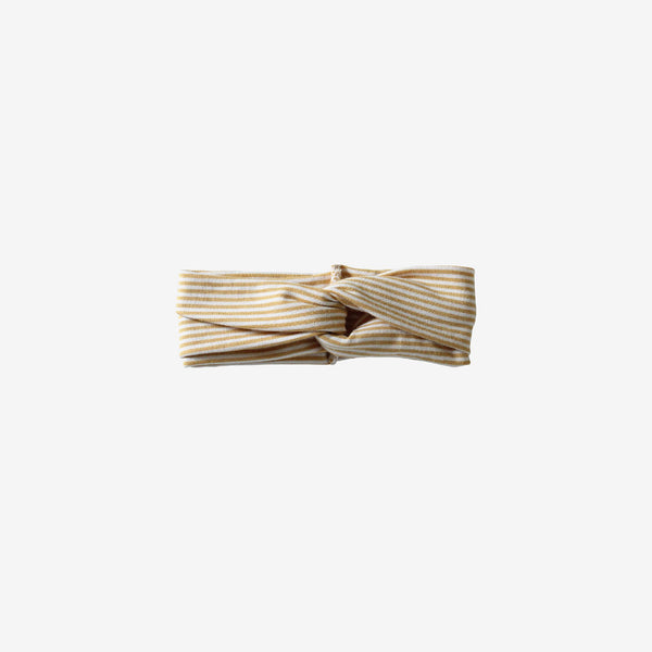 Bamboo Turban Headband - Honey Stripe