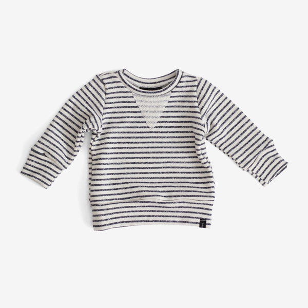 Crew Sweatshirt - Navy Stripe