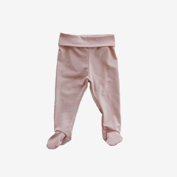 Footie Leggings - Blush