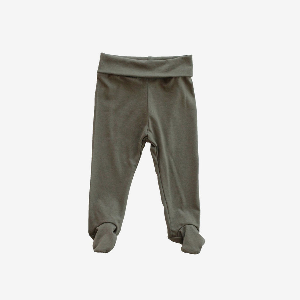 Footie Leggings - Olive