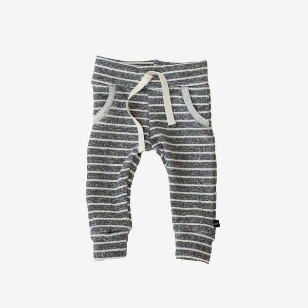 Jogger Sweats - Heather Charcoal Stripe