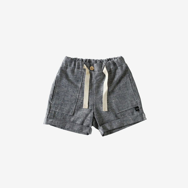 Organic Chambray Cuffed Shorts