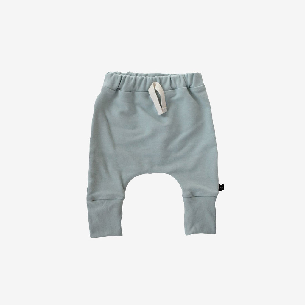 Skinny Bamboo Baby Harems - Mist Green