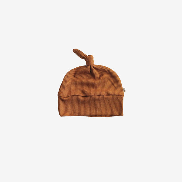Ribbed Modal® Knotted Beanie - Caramel