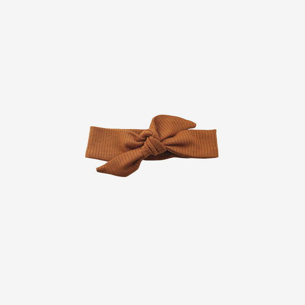 Ribbed Modal® Knotted Headband - Caramel