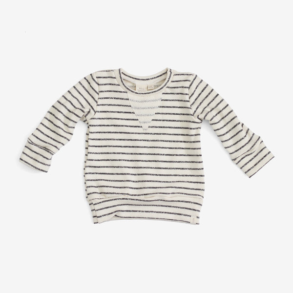 Crew Sweatshirt - Charcoal Stripe