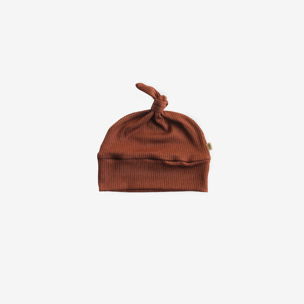 Ribbed Modal® Knotted Beanie - Pecan