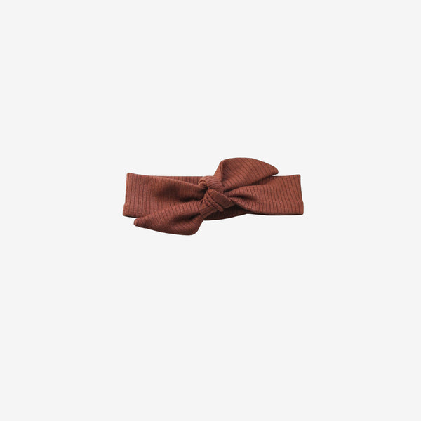 Ribbed Modal® Knotted Headband - Pecan