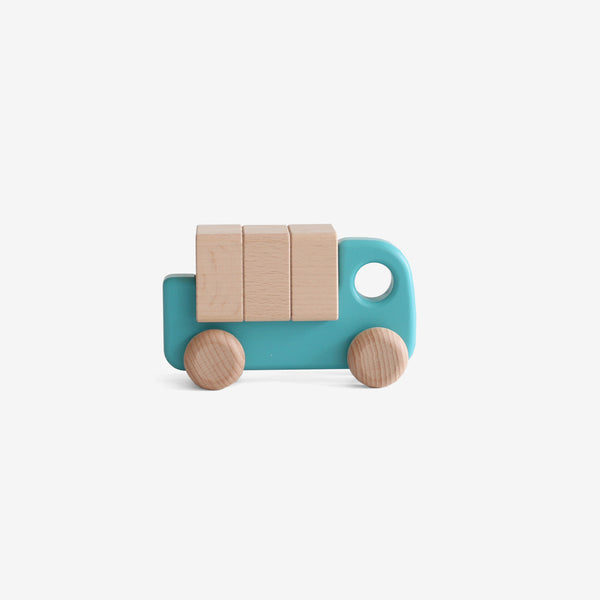 Little Wooden Lorry - Teal Blue