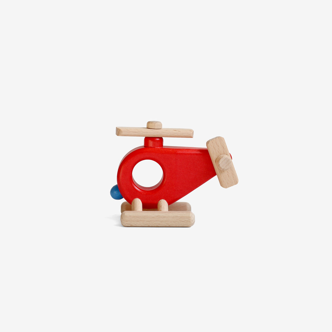 Little Wooden Helicopter - Red