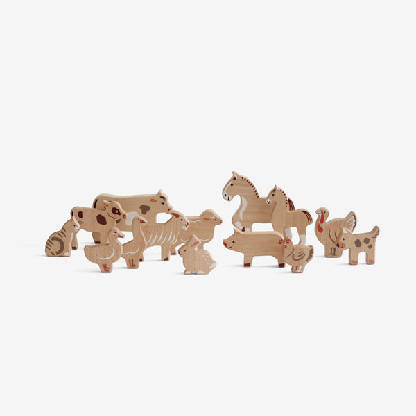 Wooden Animals Play Set - Farm