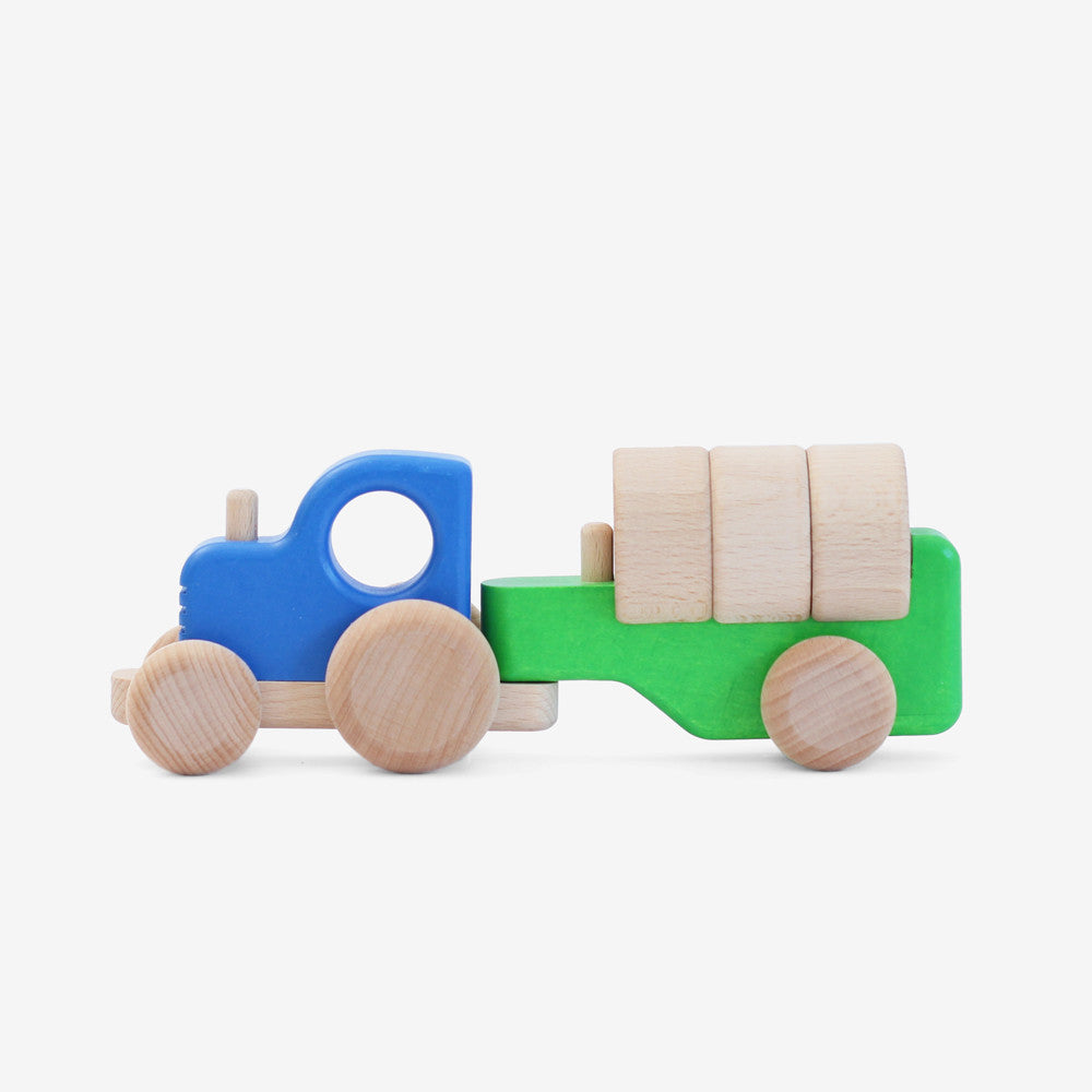 Tractor with Blocks